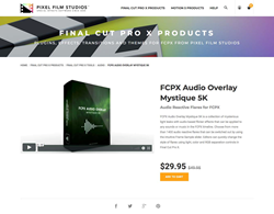 FCPX Audio Overlay Mystique 5k - Pixel Film Studios Effects - FCPX Plugins