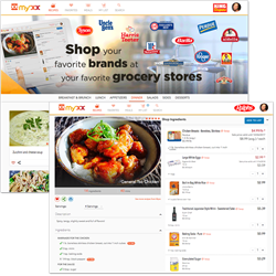 MyxxRecipes.com Shoppable Recipes Connected to Local Grocery Stores