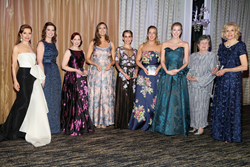 New York Junior League (NYJL) President Suzanne E. Manning and 2018 Winter Ball Mistress of Ceremonies Jean Shafiroff present the NYJL Outstanding Sustainer Award to Nancy Houghton and Wendy Wade, and the NYJL Outstanding Volunteer Award to Mary Catherine Burdine, Katie Cook, Nicole Ferrin, Elizabeth Fabsits Pavone, and Kim Essency Pillari during the 66th Annual New York Junior League Winter Ball on Saturday, March 3, at the Pierre Hotel in New York City.