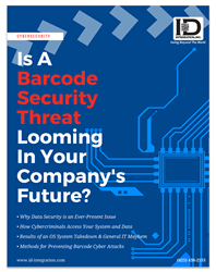 Shows cover of new white paper about barcode security threat from ID Integration, Inc.