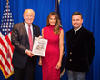 President Trump With the First Lady Melania and John Mappin