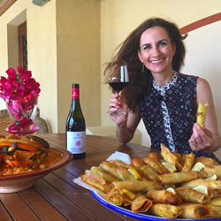 Wine Oh TV Host Monique Soltani in Sicily