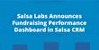 Salsa Labs Announces Fundraising Performance Dashboard in Salsa CRM