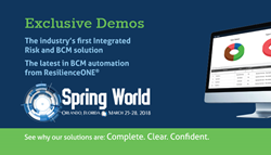 DRJ Spring World 2018, Strategic BCP BCM IRM Demos