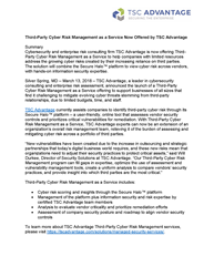 TSC Advantage press release