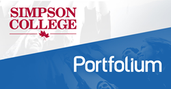 Simpson Draft Selects Portfolium ePortfolio & Assessment software