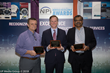 Duncan Reed (Left) and Bhawnesh Mathur (Right) accept Service Excellence Awards from CIRCUITS ASSEMBLY Editor-in-Chief Mike Buetow