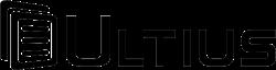 Ultius logo black negative