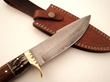 "DKC Knives Releases New Model: The Handcrafted Damascus Steel ""BANCHEE"" Fixed Blade Bowie Hunting Knife"