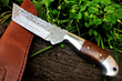"DKC Knives Releases New Model: The Handcrafted Damascus Steel ""OTTER"" Fixed Hunting Knife"