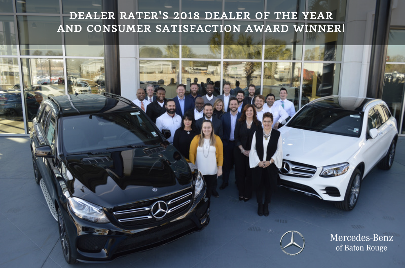 Mercedes Dealer Baton Rouge >> Mercedes Benz Of Baton Rouge Awarded 2018 Dealer Of The Year And