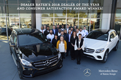 Mercedes-Benz of Baton Rouge - Dealer Rater's 2018 Dealer of Year and Consumer Satisfaction Award Winner