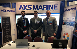 Left to right: Alexander Manolis, Alistair McConnachie (Sales Managers, London, UK), Phillip Sissener (Director of Sales, North America)