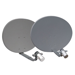 Dual-Polarized 5 GHz Feed Horn Reflector Dish Antennas