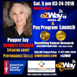 eZWay Cares & American Cancer Society Announce Pepper Jay as Keynote Speaker for its soft launch of the eZWay Rewards Mastercard giving back to American Cancer Society