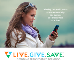 spave app user photo with LiveGiveSave logo below