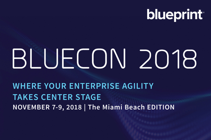 Blueprint announces inaugural user conference bluecon 2018 to take blueprint announces inaugural user conference bluecon 2018 to take place in miami this november malvernweather Gallery