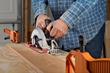 Use WORX ExacTrack to make accurate rip cuts in plywood and other stock