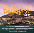 "Not-For-Profit BALLSFEST Announces 8 Arizona ""Ballers"" (Kids Affected by Life-Threatening Cancer) and Event Emcee Vanessa Ramirez at BALLSFEST WEST in Scottsdale 3.24.18"