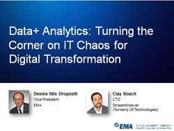 Data + Analytics: Turning the Corner on IT Chaos for Digital Transformation