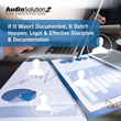 If It Wasn't Documented, It Didn't Happen: Legal & Effective Discipline & Documentation: Live Webinar by AudioSolutionz