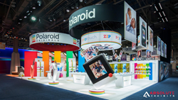 polaroid, ces, booth, trade show, exhibit