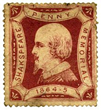 The 1864 Shakespeare Penny Memorial poster stamp