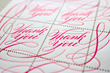 Custom letterpress Thank You stamps by The Portland Stamp Company