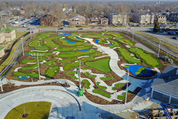 The Riley Children's Health Sports Legends Experience, a 7.5-acre, $38.5 million exhibit at The Children's Museum of Indianapolis opened Saturday with SYNLawn sustainable, plant-based products in a starring, 1.4-acre role.