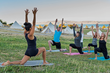A yoga practice with a view of Bear Lake