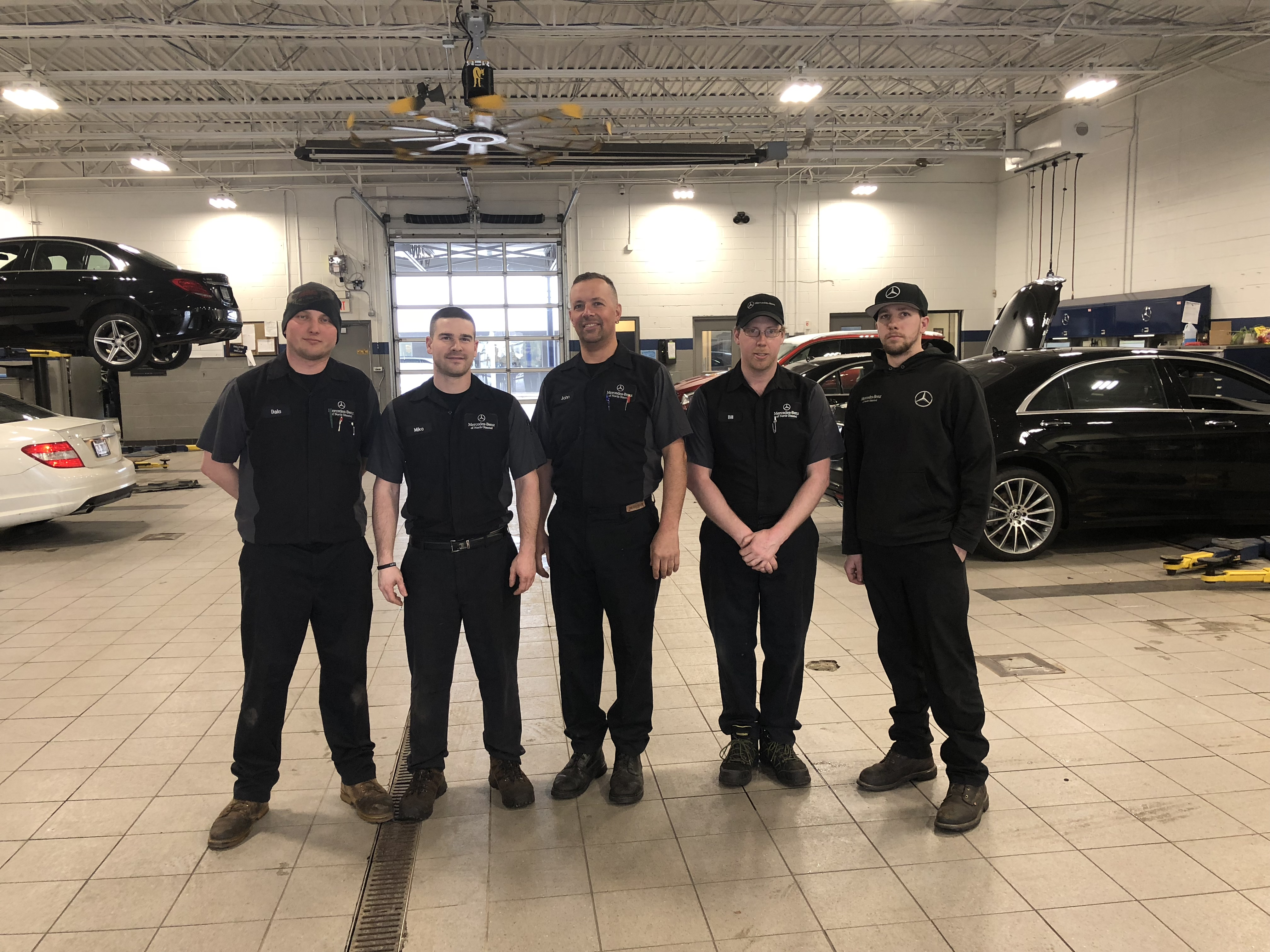 Mercedes benz of north olmsted hits master technician for Mercedes benz of north olmsted service