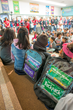 Nearly 1500 students received a Take Home Backpack filled with books and activities from Teacher Created Materials this year, in celebration of Read Across America