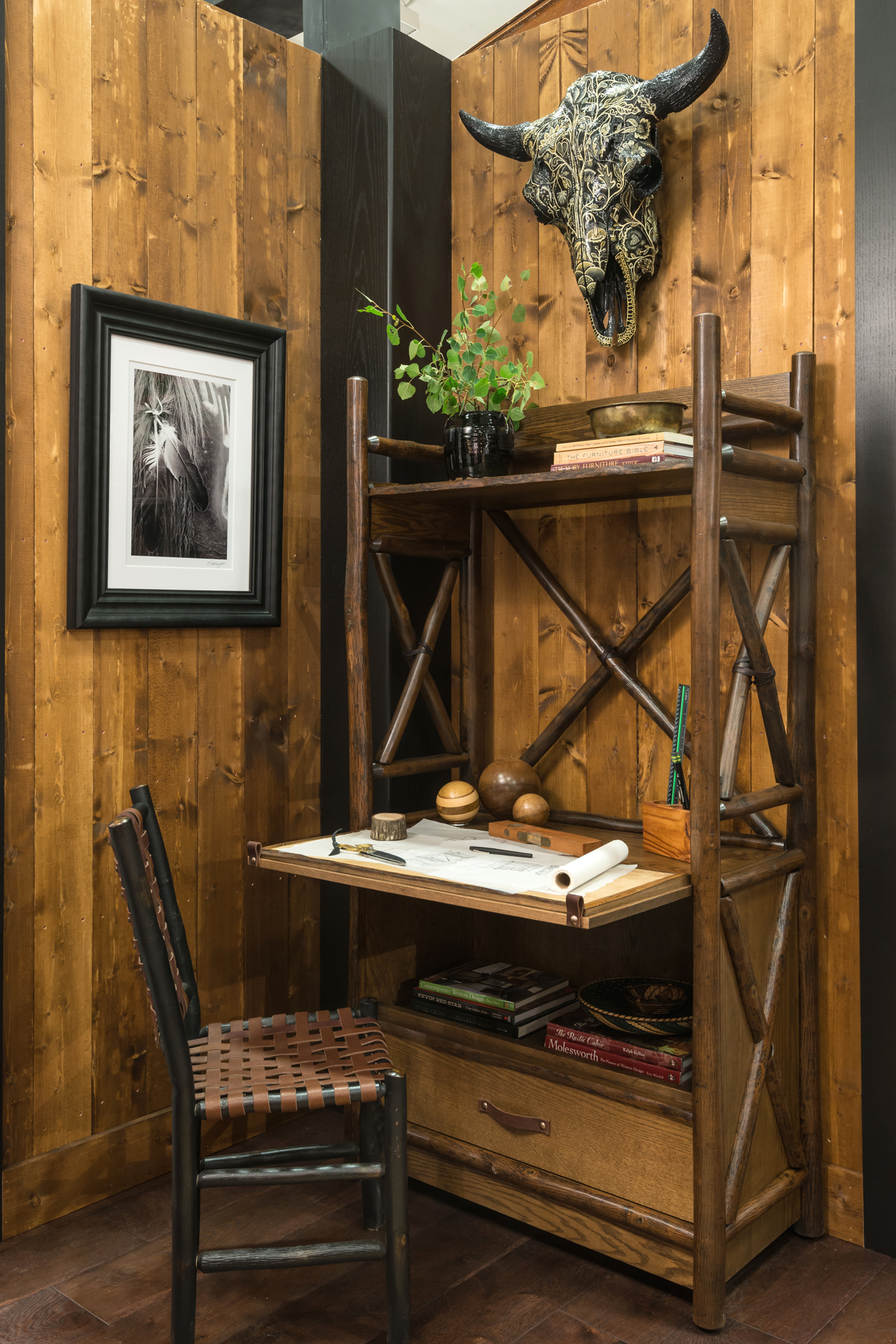 Jeremiah Young Designed A New Old Hickory Furniture Secretary Desk That Was  Featured In Kibler U0026 Kirchu0027s Award Winning Room At The 2017 Western Design  ...