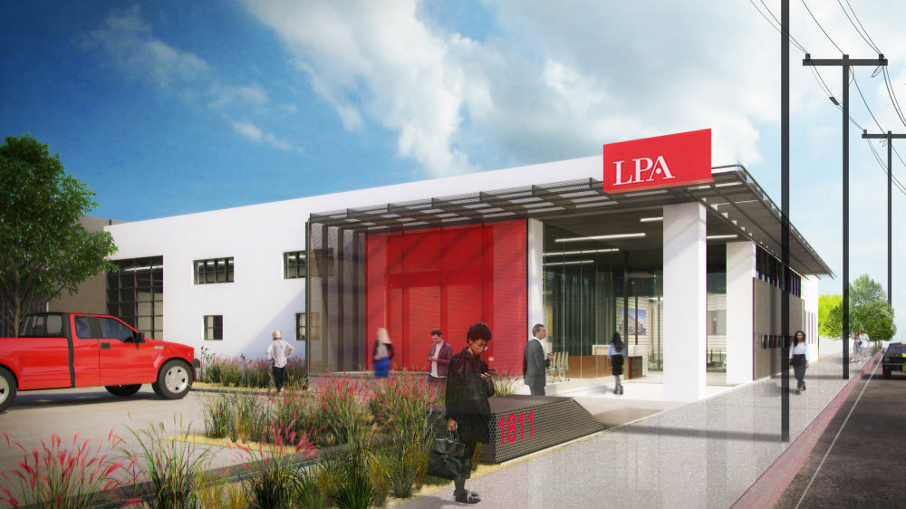 Lpa transforms vacant retail building to house new office for By design home care san antonio