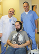 Dr. Jabboure and Dr. Nouneh with patient Jesse Tarson