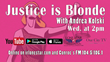 "Nonstop Justice's Andrea M. Kolski Hosts ""Justice Is Blonde"" Radio Show"