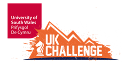 NEW logo combining both UK Challenge and University of South Wales branding for 2018