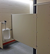 Springfield's Hamlin Middle School features Scranton Products' restroom partitons to stand up to a tough environment.