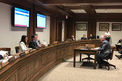WPI professor Doug Petkie testifies yesterday before the Joint Committee on Economic Development and Emerging Technologies at the Massachusetts State House