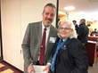 Rod Wiles, chair of RLDAM's Legislative Committee, with Rep. Betty Austin.