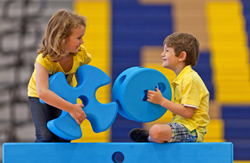 Children playing with Imagination Playground blocks