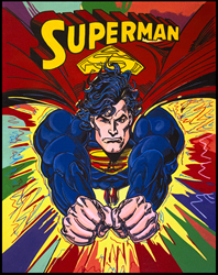 "Superman Burst by Steve Kaufman ""SAK"""