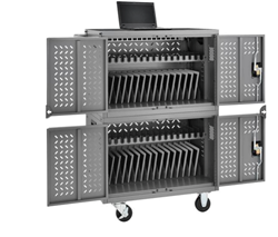 Mobile Charging Cart for Chromebooks, Laptops, iPads