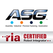 ASG Named Certified Robot Integrator by Robotics Industry Association