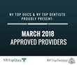NY Top Docs & NY Top Dentists Proudly Present March 2018 Approved Providers
