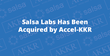 Salsa Labs Has Been Acquired by Accel-KKR