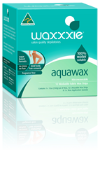 Waxxxie line of do it yourself salon quality home waxing products the waxxxie aquawax is designed for total body hair removal the formula is sugar based and 100 percent water soluble solutioingenieria Choice Image