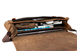 Rough Rider Leather Laptop Messenger — interior view with potential contents