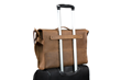 — rolling suitcase handle passthrough for travel convenience