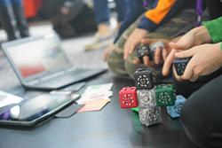 students building cubelets robot